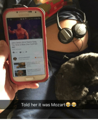 """Memes, Mozart, and 🤖: John cenas 2014 Theme Song  The Time is Now (You Cant See  Me)  Told her it was Mozart """"My wife asked me to play music to the baby."""" 😂😂"""