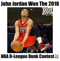 """Lavine or this guy?🤔 @slams - Comment """"hops"""" letter by letter without getting interrupted! - Follow @wildtapes for more!: John Jordan Won The 2016  NBA D-League Dunk Contest Lavine or this guy?🤔 @slams - Comment """"hops"""" letter by letter without getting interrupted! - Follow @wildtapes for more!"""