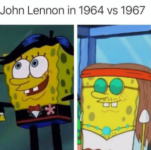 yay lsd!: John Lennon in 1964 vs 1967 yay lsd!
