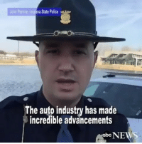 """"""" Indiana State Trooper films hilarious PSA about this major vehicle safety feature called a """"turn signal."""" 😂 Via @abcnews WSHH Tag drivers who don't know this 👇🏽: John Perrine Indiana State Police  The auto industry has made  incredible advancements  NEWS  abc """" Indiana State Trooper films hilarious PSA about this major vehicle safety feature called a """"turn signal."""" 😂 Via @abcnews WSHH Tag drivers who don't know this 👇🏽"""