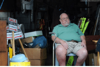 Memes, Cancer, and Help: John Rucosky/Tribune-Democrat via AP  SALE  ARD SALE  211 BRENDEL ST.  ARD  11 BRENDE AM BRENDELST Willie Davis, a 66-year-old U.S. Navy veteran dying from cancer, sits in his garage among many of his belongings, which he's trying to sell to help pay for his own funeral.