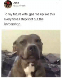 Barbershop, Future, and Memes: John  @_surfresh  To my future wife, gas me up like this  every time l step foot out the  barbershop @noelaniig 😍😍 - Follow my other account @x__social_butterfly__x ❤