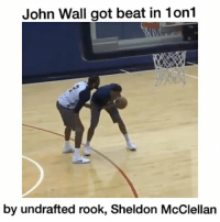 That's embarrassing 😷 @hoopsnation - Follow (ME) @cleanestclipz for more! 🏀: John Wall got beat in 1on1  by undrafted rook, Sheldon McClellan That's embarrassing 😷 @hoopsnation - Follow (ME) @cleanestclipz for more! 🏀
