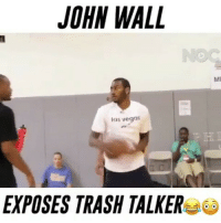 J.Wall Exposed Him😱🔥 - Follow @Basketballsyndrome for more!: JOHN WALL  las vegas  EXPOSES TRASH TALKER  MI J.Wall Exposed Him😱🔥 - Follow @Basketballsyndrome for more!
