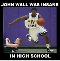 America, Drake, and Dunk: JOHN WALL WAS INSANE  HOL  RAMS  IN HIGH SCHOOL Never before seen John Wall high school clips 😳 @evolvevfx FOLLOW @ATHLETICFILM FOR MORE! - Tags: nfl mlb nba nhl baseball basketball football hockey soccer tennis golf sports like follow dunk lol haha funny lebron ncaa highlights jcole drake trump america curry news health fitness gym
