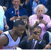 Albert Einstein, Einstein, and Technology: John Wall's shot was so clutch that Albert Einstein used his time travel technology to come witness it https://t.co/A63JQpjuvu