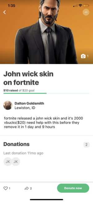 John wick skin on Fortnite: John wick skin on Fortnite