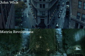 John Wick, The Matrix, and Matrix: John Wick4  Matrix Revolutions In John Wick(2014), the Continental building is the same as the one seen in the final fight between Neo and Agent Smith in The Matrix Revolutions(2003), which also stars Keanu Reeves