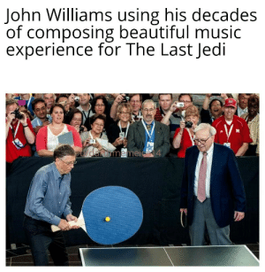 Old format but here ya go: John Williams using his decades  of composing beautiful music  experience for The Last Jedi  daromemeic 4 Old format but here ya go