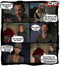 """EASY JERRY!  Crazy Rick Grimes: JOIN MAAY OR  I ROSHAMBO  YOU!  CRAZY RICK GRIMES  AND THIS PUSSY  HAS TEETH!  I'M THINKING  ABOUT MY FOOT  AND YOUR  BALLSACKI  CRG""""I  YOU HAVE TO GET  PAST MY PUSSY TO  REACH MY ROYAL  BALLS  lllllll...BETTER  NOT!  TS FUNNY I WAS  THINKING ABOUT MY  BALLSACK AND YOUR FACEI  ZZZZZIIIIIIING! EASY JERRY!  Crazy Rick Grimes"""