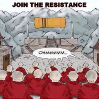Funny, Resistance, and The Resistance: JOIN THE RESISTANCE  OHMMMMM...