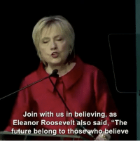 """Memes, Eleanor Roosevelt, and 🤖: Join with us in believing, as  Eleanor Roosevelt also said, """"The  future belong to thos  believe Repost @cbsnews: """"We are not asking for anything extra — we are asking for equality,"""" HillaryClinton said, during InternationalWomensDay speech"""" 🙏 WSHH"""