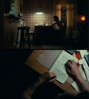 In Joker (2019) you can see Arthur, writing with his right hand before switching over to his left. Possibly the inner battle of Arthur VS Joker: JOKES  why did the, gld  s ihsomneea?)  half to sleep with  Con fusd ī becun  any cents  how many timge  what did the  to the stratt sttre  loosen up a little.  the worst  part  n  having a miental ill  is  expect  you 4o behave  if you  People In Joker (2019) you can see Arthur, writing with his right hand before switching over to his left. Possibly the inner battle of Arthur VS Joker
