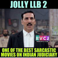 Memes, Indian, and 🤖: JOLLY LLB 2  RV CJ  WWW. RVCJ.COM  ONE OF THE BEST SARCASTIC  MOVIES ON INDIAN JUDICIARY Jolly LLB 2 rvcjinsta