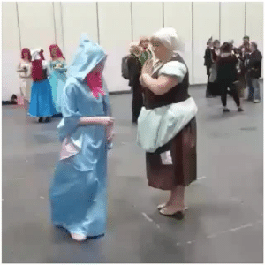 Bailey Jay, Boo, and Gif: jollyhollycosplay: justhere4coffee:   jollyhollycosplay:  Bibbity bobbity boo!  I had my own fairy godmother this weekend at comic con. So magical.  I slowed the actual transformation down 200% so you can see just how brilliant it is… From the first sign of the ballgown to completely changed takes less than 3 seconds. That is some epic-level crafting.   @justhere4coffee thank you! Wanted it to be as quick a transformation as possible!