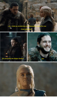 "Game of Thrones, Tumblr, and Queen: Jon, I think we should keep our relationship a secret for now  - Great idea Dany!  Aye  Are you fookin the Dragon Queen? <p><a href=""http://game-of-thrones-fans.tumblr.com/post/172660804092/when-enough-people-make-false-promises-words-stop"" class=""tumblr_blog"">game-of-thrones-fans</a>:</p>  <blockquote><p>When enough people make false promises, words stop meaning anything</p></blockquote>"