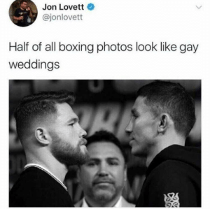 You may now hit the bride: Jon Lovett  @jonlovett  Half of all boxing photos look like gay  weddings You may now hit the bride