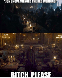 "Bitch, Hbo, and Memes: ""JON SNOW AVENGED THE RED WEDDING!H  BITCH, PLEASE Arya deserves that title. . . . . . . . . thronesmemes gameofthrones asoiaf got hbo gameofthronesfamily gameofthroneshbo gameofthronesfan gameofthronesmemes gotmemes gots7 winterishere gameofthronesseason7 gotseason7 arya aryastark maisiewilliams"