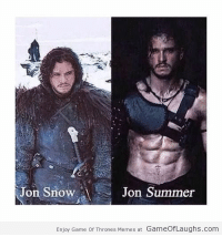 Jon Snow  Jon Summer  Enjoy Game Of Thrones Memes at GameOfLaughs.com Jon Snow and Jon Summer - Game Of Thrones Memes