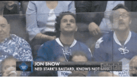 JON SNOW  NED STARK'S BASTARD, KNOws NOT INeeita <p>Face It Jon, You Know Nothing About Sportsball Either</p>