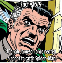 J. Jonah Jameson, Memes, and 🤖: Jonah ameson once rented  a robot to catch Spider-Man Who needs pictures of Spider-Man when you can catch Spider-Man. Also, is it just me or does J Jonah Jameson look a bit like an older Hitler in this photo???