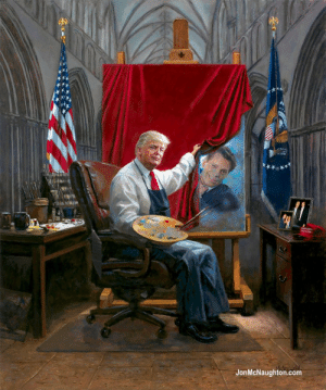 This Painting Of Trump Has Become The Ultimate Meme Fodder: JonMcNaughton.com This Painting Of Trump Has Become The Ultimate Meme Fodder