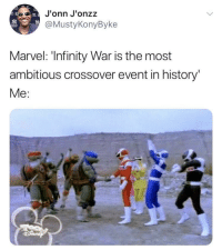 Blackpeopletwitter, History, and Infinity: J'onn J'onzz  @MustyKonyByke  Marvel: 'Infinity War is the most  ambitious crossover event in history'  Me <p>Where's this reboot tho (via /r/BlackPeopleTwitter)</p>