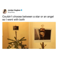 Angel, Jordan, and Star: Jordan Hughes  @JayHillary  Couldn't choose between a star or an angel  so I went with both A star and an angel