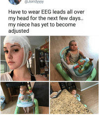 Ass, Food, and Funny: Jorrdyyyy  Have to wear EEG leads all over  my head for the next few days.  my niece has yet to become  adjusted DO ANY OF YOU REMEMBER DREW FROM A LONG ASS TIME AGO WELL HE BROKE UP WITH HIS GIRLFRIEND AND IS HITTING ME UP TRYING TO BE IN MY LIFE AGAIN. NICE TRY TINY SATAN FUCK OUTTA HERE ~Michaela ( @michaela.heller_ )•••••••••••••••••••••••••••••••• TAGS TAGS TAGS TAGS TAGS tumblrtextpost tumblrposts textpost tumblr shrek instatumblr memes posts phan funnythings 😂 same funny haha loltumblr lol relatable rarepepe funnythings funnytextposts pepeislife meme funnystuff pepe food spam