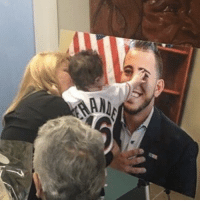 Jose Fernandez's daughter, Penelope, reaches out to a picture of him. R.I.P. Jose 😭💔: Jose Fernandez's daughter, Penelope, reaches out to a picture of him. R.I.P. Jose 😭💔