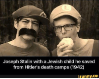 A real hero! <3: Joseph Stalin with a Jewish child he saved  from Hitler's death camps (1942)  ifunny.CO A real hero! <3