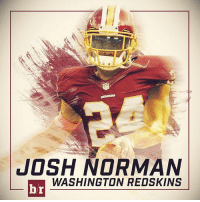 Josh Norman, Washington Redskins, and Sports: JOSH NORMAN  Lbr WASHINGTON REDSKINS Josh Norman reportedly signs 5-year, $75M deal ($50M guaranteed) with the Redskins. Good move? 💵💵💵