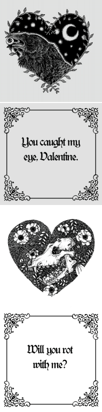 <p><br/></p>: Jou caught my  eye, Dalentine.   Will you rot  with me? <p><br/></p>