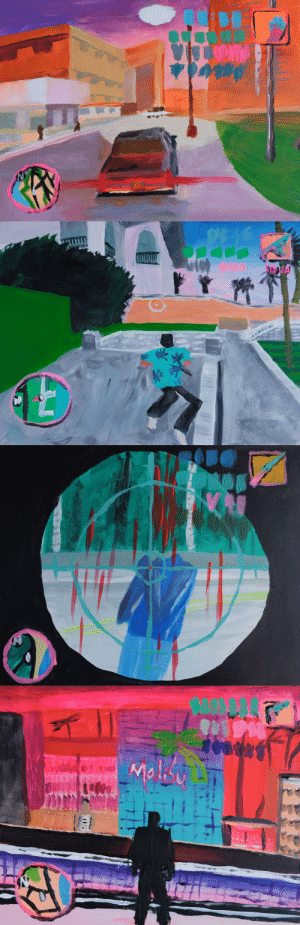 jrpg: GTA Vice City paintings by Nick Benfey: jrpg: GTA Vice City paintings by Nick Benfey
