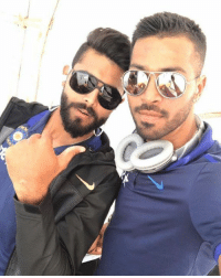 A selfie from the Indian all-rounders Hardik Pandya and Ravindra Jadeja ahead of leaving for Chandigarh.: jt. A selfie from the Indian all-rounders Hardik Pandya and Ravindra Jadeja ahead of leaving for Chandigarh.