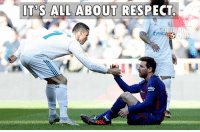 Memes, Respect, and 🤖: JT S ALL ABOUT RESPECT Respect @leomessi @cristiano @realmadrid @fcbarcelona