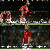 😐🙏: Juan Mata has undergone  a REDDEVILSEDIT  surgery on  a groin injury. 😐🙏