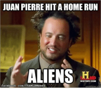 How long until Juan Pierre jacks his next homer? (Zachary Foyil): JUAN PIERRE HITAHOMERUN  ALIENS  HISTORY, COM  facebook.com/TheMLBMemes  quick meme coa How long until Juan Pierre jacks his next homer? (Zachary Foyil)