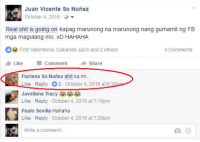 Ito pa isang CO-CO-COMBO BREAKER! 😅😅😅   Sent by: Juan Vicente So Nuñez: Juan Vicente So Nunez  October 4, 2016  Real shit is going on kapag marunong na marunong nang gumamit ng FB  mga magulang mo. XD HAHAHA.  Fritz Valenteros, Cabanes Jack and 2 others  4 Comments  Like  Comment Share  Florissa So Nunez shit ka rin  Like Reply 02 October 4, 2016 at 6:30p  Javellana Tracy  Like Reply October 4, 2016 at 7:18pm  Paulo Sevilla Hahaha  Like Reply October 4, 2016 at 7:20pm  write a comment. Ito pa isang CO-CO-COMBO BREAKER! 😅😅😅   Sent by: Juan Vicente So Nuñez