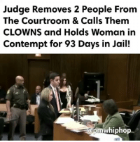 Driving, Drunk, and Jail: Judge Removes 2 People From  The Courtroom & Calls Them  CLOWNS and Holds Woman in  Contempt for 93 Days in Jail!  a0mwhiphop Amanda Kosal has been sentenced to 3 to 15 years in prison for a deadly drunk driving crash this past summer in Redford Township, and 1 more person held in contempt - FULL VIDEO AT PMWHIPHOP.COM LINK IN BIO