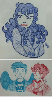 Target, Tumblr, and Blog: juh-britto:Doodling to pass the time, completed the superwholock by accident.