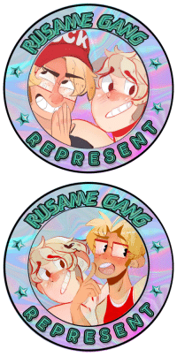 Target, Tumblr, and Gang: juicingflounder:  Super excited to announce my first holographic stickers are rusame stickers! You can pre order them here!  https://www.etsy.com/listing/613719987/holographic-rusame-gang-sticker-pre