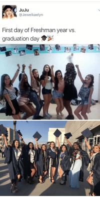 I'm more impressed how you have the same group of friends https://t.co/SiUncT673D: JuJu  (a Jewel kaelyn  First day of Freshman year vs.  graduation day   MI I'm more impressed how you have the same group of friends https://t.co/SiUncT673D