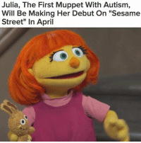 """""""Julia, 4, is sensitive to loud noises, and jumps up and down when she's excited. The show decided to introduce her as a character to teach kids to learn how to better interact with the increasing number of children with autism"""" 📺👏 @buzzfeednews WSHH: Julia, The First Muppet With Autism,  Will Be Making Her Debut On """"Sesame  Street"""" in April """"Julia, 4, is sensitive to loud noises, and jumps up and down when she's excited. The show decided to introduce her as a character to teach kids to learn how to better interact with the increasing number of children with autism"""" 📺👏 @buzzfeednews WSHH"""