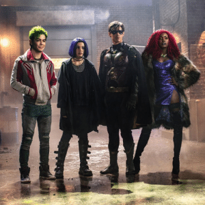 """juliansblackshirt:  juliansblackshirt: comicweek:  The Titans  Fuck me somebody slap a hot topic font up on this bitch with a """"20% Halloween deals"""" cause that's exactly what this is  : juliansblackshirt:  juliansblackshirt: comicweek:  The Titans  Fuck me somebody slap a hot topic font up on this bitch with a """"20% Halloween deals"""" cause that's exactly what this is"""