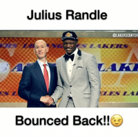 Basketball, Los Angeles Lakers, and Memes: Julius Randle  @LAKERS CENTER  Bounced Back!! This is for my idol, @juliusrandle30. You have inspired me on and off the court with your competitiveness, refusing to back down from anybody in your way, and your incredible worth ethic. I hope you enjoy this and leave a like down below maybe..😉😉Lastly, thanks for following us. It means the world to me! 🌎 Comment JULIUS down below for a spam! ________________________________________________ Lakers Lalakers TeamLakers DAngeloRussell JordanClarkson JuliusRandle BrandonIngram TheFuture LakersNews LakersGame Kobe KobeBryant BlackMamba Mamba Basketball NBA Laker4Life LakersAllDay michaeljordan GOAT LakerNation GoLakers @1ngram4 @jordanclarksons @dloading @juliusrandle30 @ivicazubac @larrydn7 @kobebryant @mettaworldpeace37