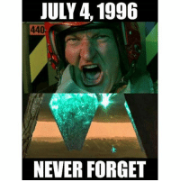 Memes, Never, and 🤖: JULY 4, 1996  440  NEVER FORGET Never forget... payattentionamerica
