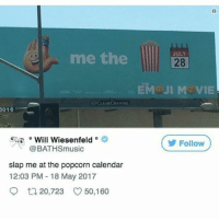 Fear the walking dead is actually really good this season: JULY  me the  28  EM JI M VIE  CLEARCIHANNE  016  5;^ o Will Wiesenfeld。  @BATHSmusic  Follow  slap me at the popcorn calendar  12:03 PM 18 May 2017  9ロ20,723 50,160 Fear the walking dead is actually really good this season