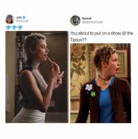 Life, Memes, and The Suite Life of Zack & Cody: Julz  @YesJulz  Daniel  @MyFavsTrash  You about to put on a show @the  Tipton?? THE SUITE LIFE OF ZACK & CODY 😪💀