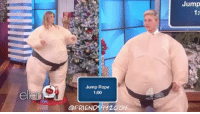 Jennifer Aniston & Ellen play sumo charades, love their suits 😆😂 Jennifer has 1 minute to get Ellen to guess as many words as she can friendstvshow theellenshow jenniferaniston ellendegeneres headsup: Jump Rope  1:00  @FRIENDS  Jump Jennifer Aniston & Ellen play sumo charades, love their suits 😆😂 Jennifer has 1 minute to get Ellen to guess as many words as she can friendstvshow theellenshow jenniferaniston ellendegeneres headsup